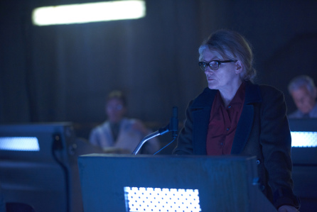 "12 MONKEYS -- ""Bodies of Water"" Episode 205 -- Pictured: Barbara Sukowa as Katarina Jones -- (Photo by: Ken Woroner/Syfy)"