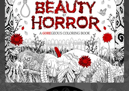 New Coloring Book : New teaser for the beauty of horror: a goregeous coloring book