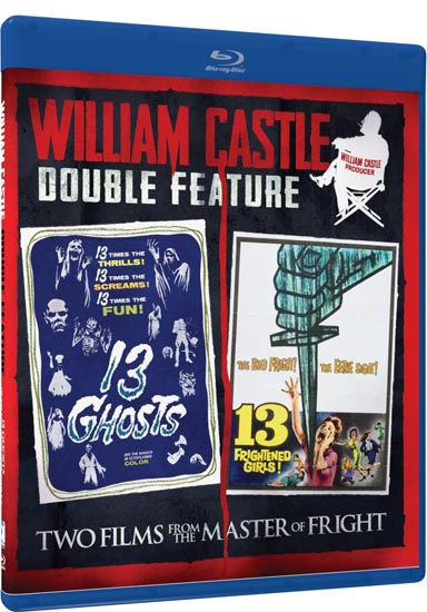William Castle Double Feature - 13 Ghosts & 13 Frightened Girls - Blu-ray