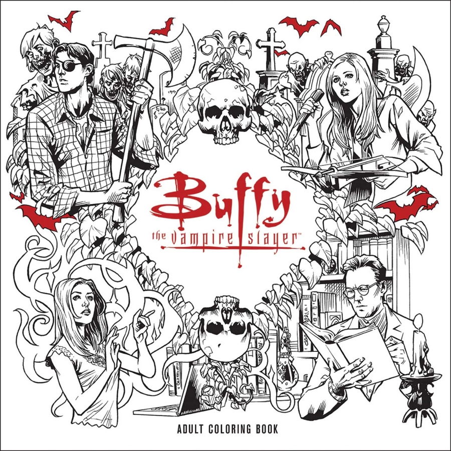 Buffy The Vire Slayer Adult Coloring Book In December Where To Buy Horror Coloring Books