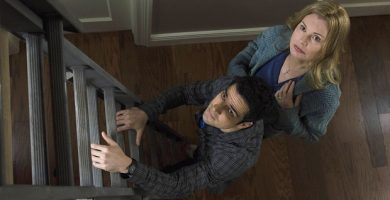 THE EXORCIST:  L-R:  Alfonso Herrera and Geena Davis in THE EXORCIST coming soon to FOX.  ©2016 Fox Broadcasting Co.  Cr:  Jean Whiteside/FOX