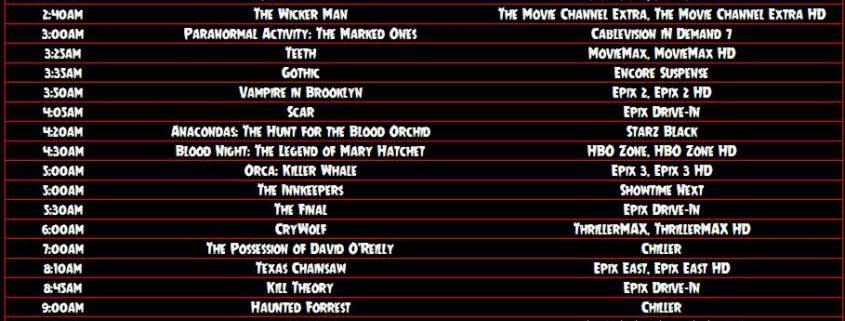 Horror TV Guide - 9/6 - 9/8 - Horror News Network - The Horror News
